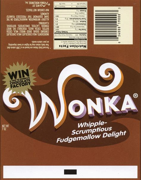 willy wonka bar wrapper template wonka bar bar