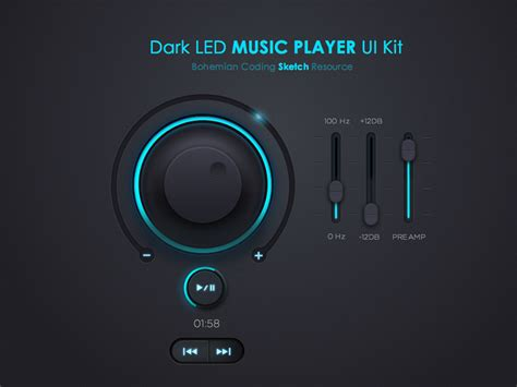 download free music player music player ui kit freebie for sketch by isabel aracama