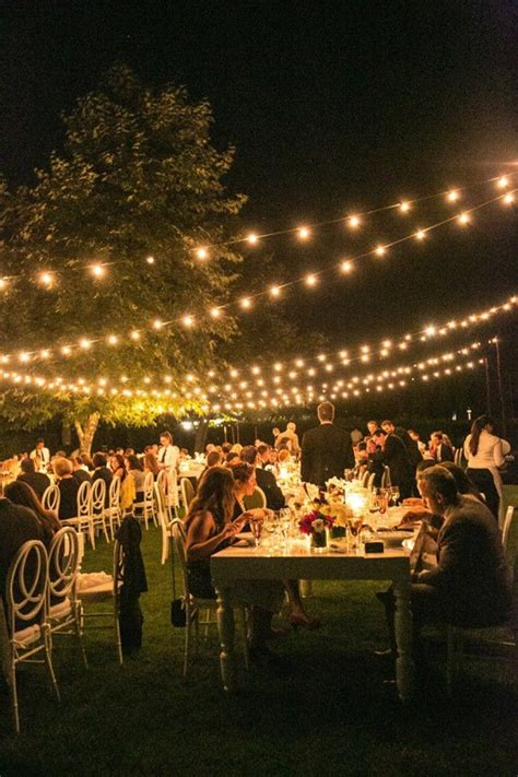 Backyard Wedding Lighting Ideas Best 25 Backyard Wedding Lighting Ideas On Pinterest Outdoor Fall Wedding Reception Backyard