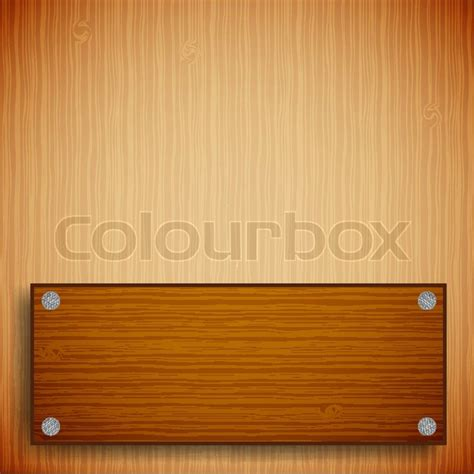 Wood Frame Poster 253 wood background with wood textured frame stock vector