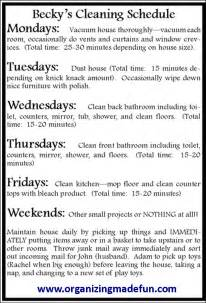 how to keep a clean house schedule happiness is homemade organisingmadefun how to fake your