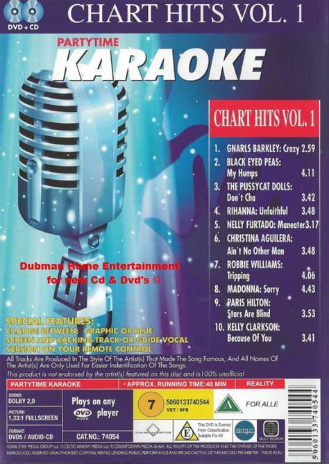 karaoke chart hits vol  dvd cd dubman home