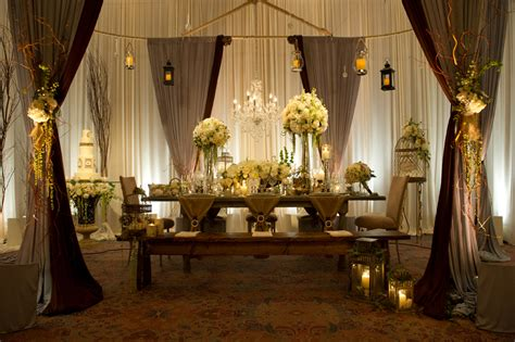 burlap draping wedding elegant event lighting featured in chicago style