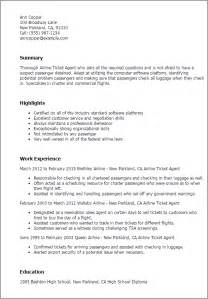 Airline Ticket Sle Resume by Professional Airline Ticketing Templates To Showcase Your Talent Myperfectresume