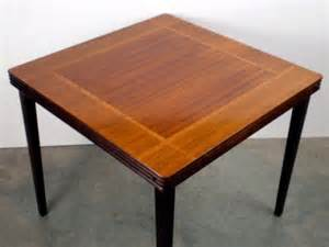 Wooden Folding Card Table Vintage Castlewood Inlaid Mahogany Oak Wood Card Table Antique Folding Ebay