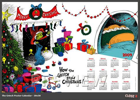 how the grinch stole christmas calendar how the grinch