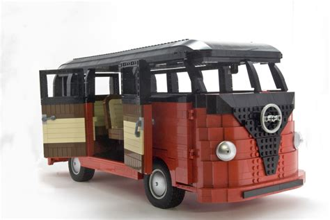 lego volkswagen inside vw samba the brothers brick the brothers brick