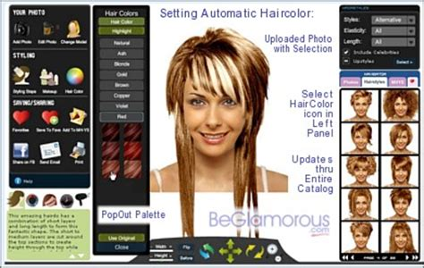 emo hair cuts front to back free online virtual hairstyle selector search results