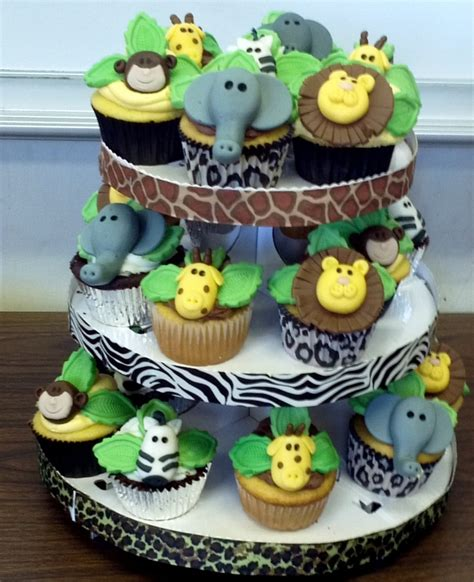Baby Shower Cakes Safari Theme by Safari Themed Baby Shower Cupcakes Cakecentral