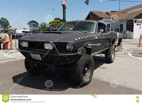 survival car ford mustang post apocalyptic survival vehicle editorial