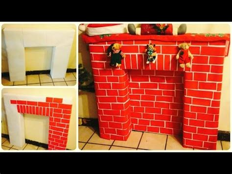 como fabricar una chimenea decorativa diy chimenea navide 241 a milinchristmas