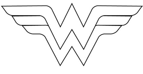 wonder woman logo printable sketch coloring page