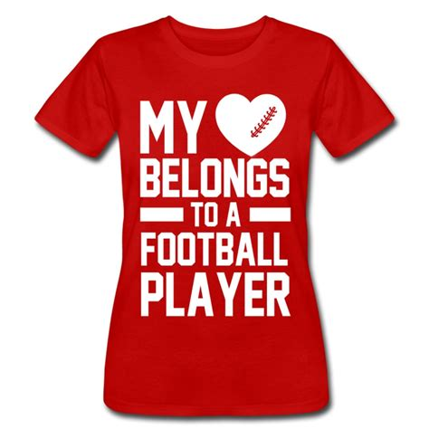 s day football player my heart belongs to a football player t shirt spreadshirt