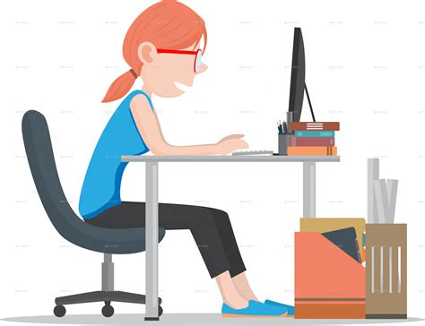 office worker at desk office workers on desk by nael005 graphicriver