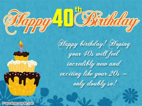 40th Birthday Card Messages 40th Birthday Wishes Messages And Card Wordings