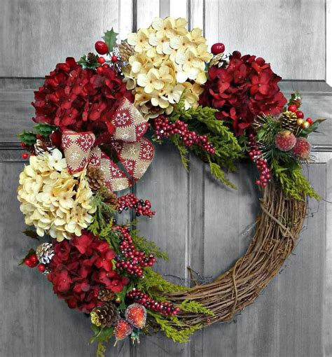 Diy Winter Wreaths For Front Door Wreaths Marvellous Most Beautiful Wreath Silk Flower
