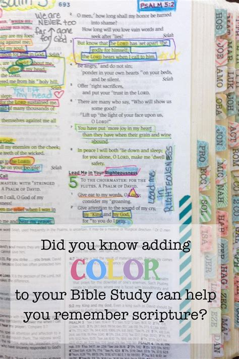 using color when you study god s word is one way to help