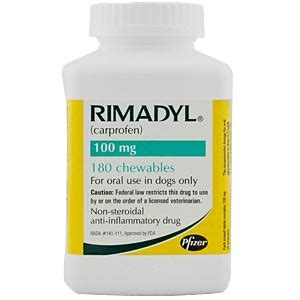 rimadyl 100mg for dogs rimadyl carprofen 100 mg 180 chewable tablets vetdepot