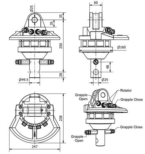 hydraulik shop hydromot rotator f 252 r holzgreifer