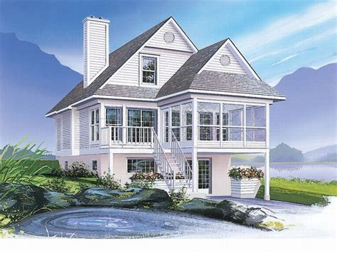 Narrow Lot Lake House Plans by Coastal House Plans Narrow Lots Floor Plans Narrow Lot