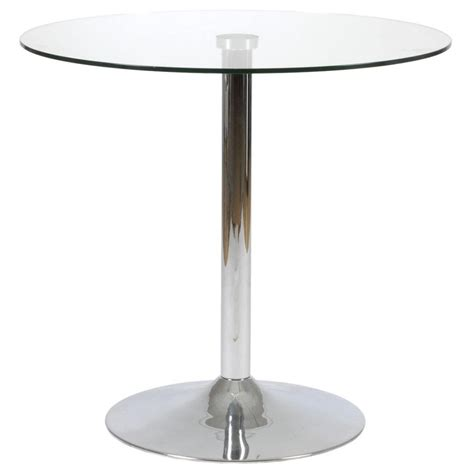 talia dining table clear glass chrome casual kitchen
