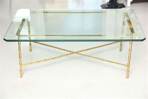 brass coffee table with glass top brass coffee table with glass top vintage