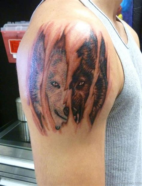 wolf shoulder tattoo wolf shoulder designs ideas and meaning tattoos