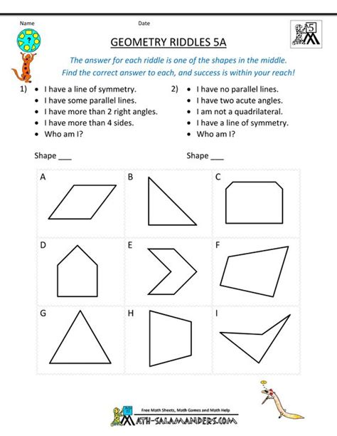 printable lesson plans for 5th grade math lesson plans for 5th grade geometry 5th grade