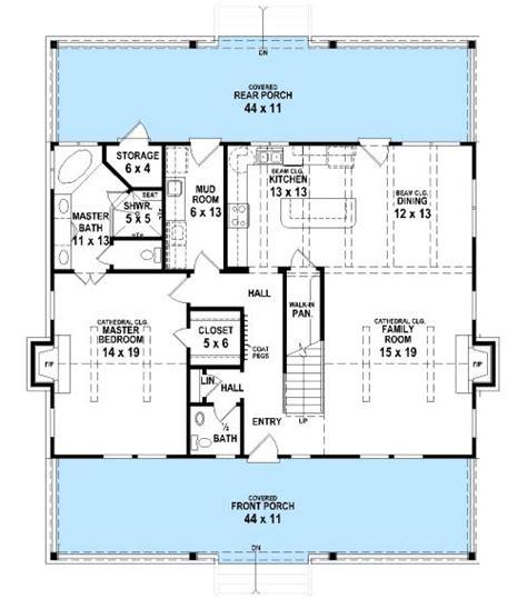 bungalow with twin porches 21488dr 1st floor master suite cad available canadian cottage 486 best floor plans images on pinterest floor plans