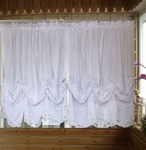 white balloon curtains white batten lace balloon austrian curtain 160x165cm ebay