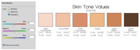 skin color hex code human skin color rgb