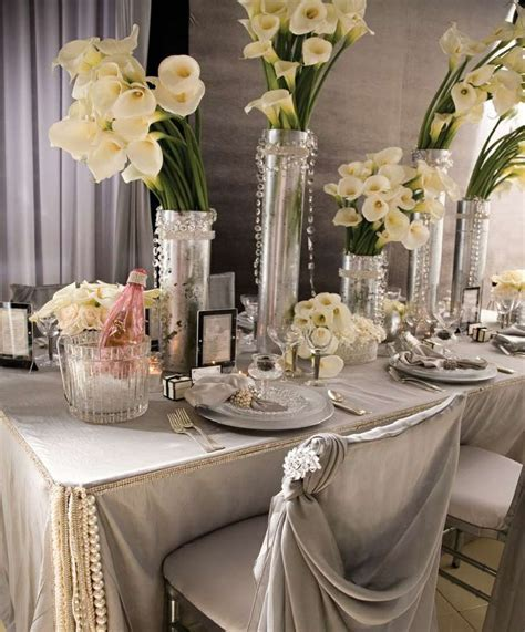 Vintage Wedding Ideas   Hollywood Glamour Theme Decor Pics