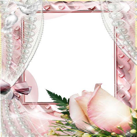 frame flowers rose n curtain pink free images at clker