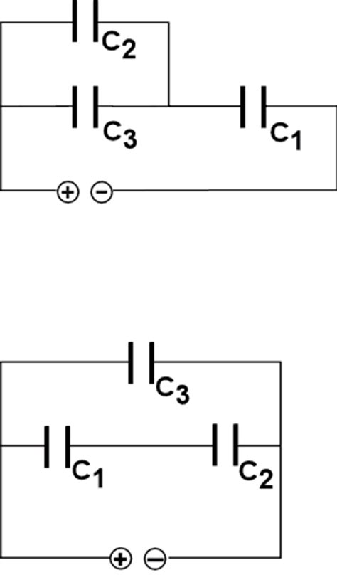 resistor capacitor combination physics drawings