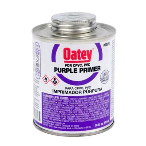 16 oz pvc purple primer 307573 the home depot