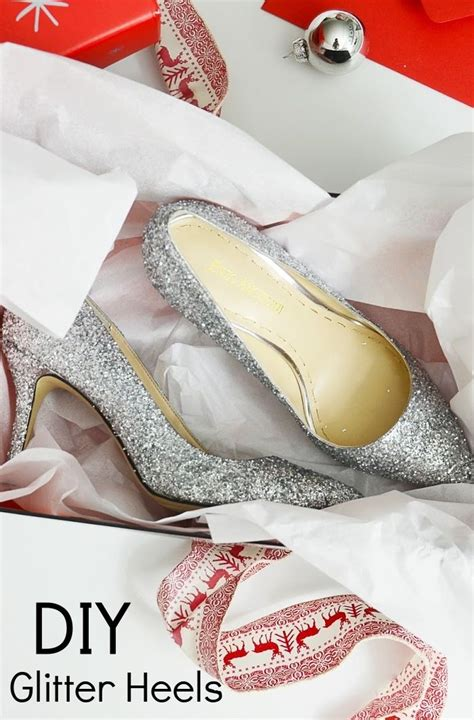 diy gold glitter shoes diy sparkle pumps by merricksart silver glitter heels