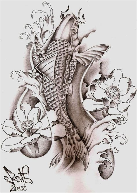 koi fish tattoo sketch koi fish tattoo sketch by hilcar2 on deviantart