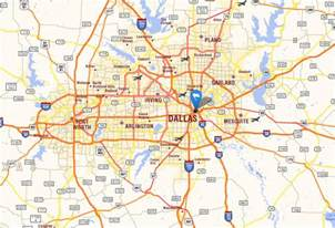 Dallas Tx Map by Dallas Texas Map