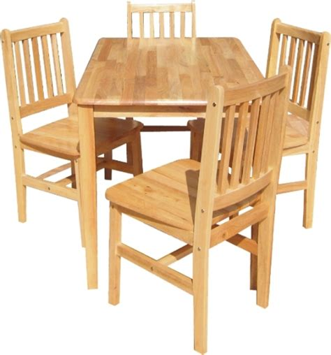 Rubberwood Dining Table Malta Square Rubberwood Dining Table With 4 Chairs