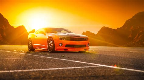 chevrolet car wallpaper hd chevrolet camaro ss orange wallpaper hd car wallpapers