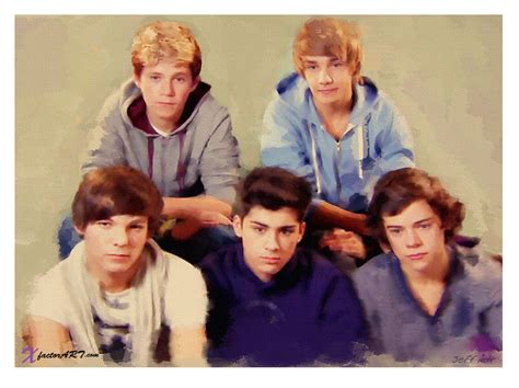 one direction painting boys in a painting lolz one direction photo