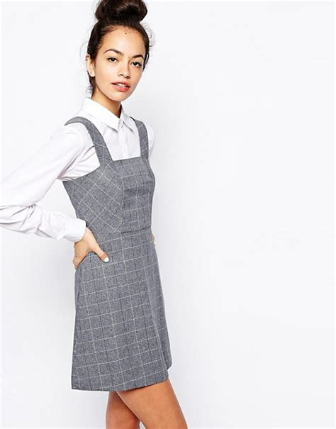Checked Pinafore Dress new look new look check print pinafore dress