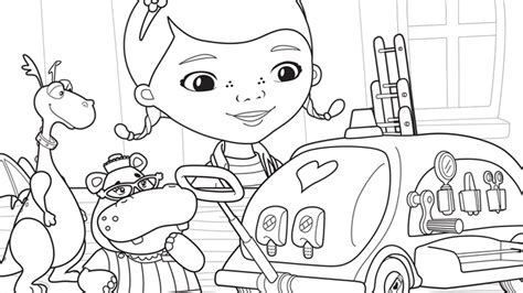 stuffy the dragon doc mcstuffins coloring page kids
