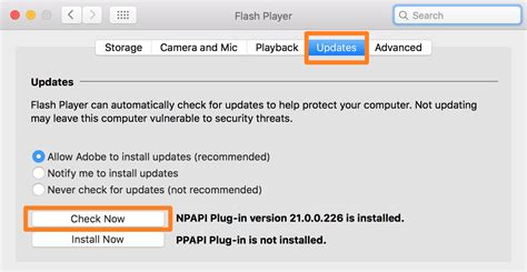 adobe update how to manually check for flash updates on your mac