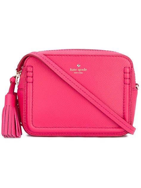 Tassel Detail Crossbody Bag kate spade new york tassel detail crossbody bag in pink lyst