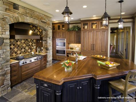 wood island kitchen mixing kitchen cabinet styles and finishes kitchen ideas
