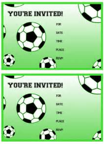 Soccer Invitation Template by Free Printable Soccer Birthday Invitations From
