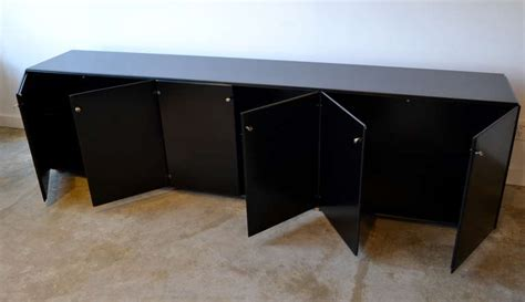 Black Credenza Office black lacquered office credenza by gianfranco frattini italy at 1stdibs