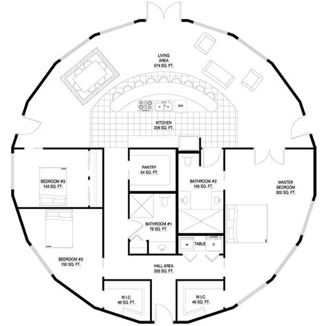 roundhouse floor plan round house plan yurts pinterest dome homes yurts