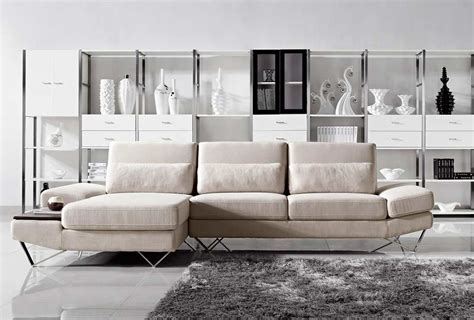 sofa with table built in soft fabric sectional sofa with built in end table vg208